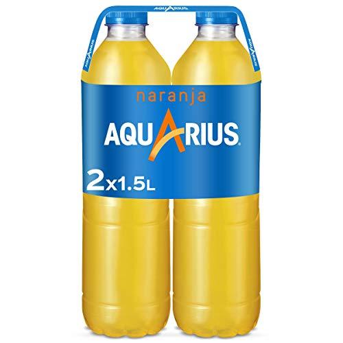Aquarius Naranja - Bebida funcional con sales minerales, baja en calorías - Pack 2 botellas 1,5L