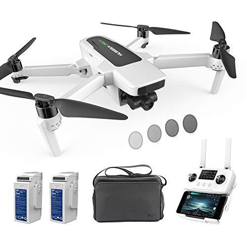 Hubsan Zino 2+ Drohne mit 4K-60fps UHD Kamera GPS RC Drohne 10 km FPV mit abnehmbarem 3-Achsen-Gimbal,39 Minuten Flug Headless-Modus, Low Power Failsafe Modus (zwei Batterien und Tasche)