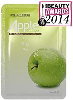 Timeless Truth APPLE STEM CELL & COLLAGEN Bio Cellulose Mask 6pcs (30ml/pcs) , UNBOXED - Worldwide shipping