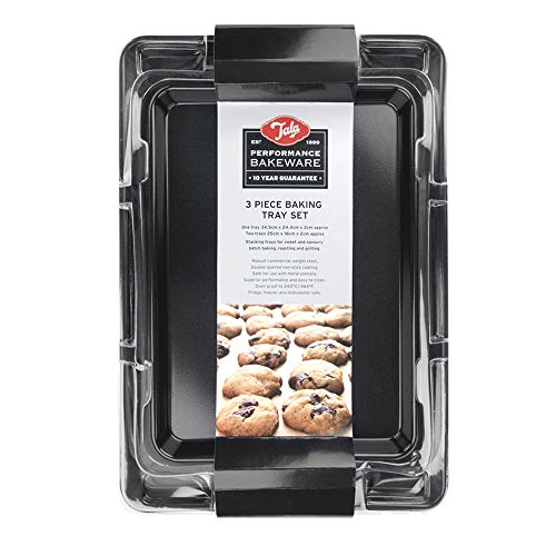 Performance, Set 3 Baking Trays, Professional Gauge Carbon Steel with Whitford Eclipse Non-Stick...