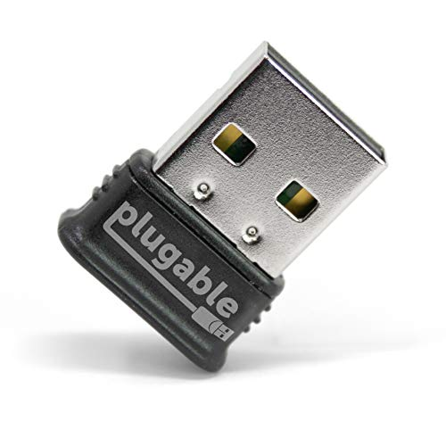 Plugable Micro Adaptador USB Bluetooth 4.0 de Baja energía (Compatible con Windows 10, 8.1, 8, 7, Linux; Compatible con Auriculares Bluetooth y estéreo)