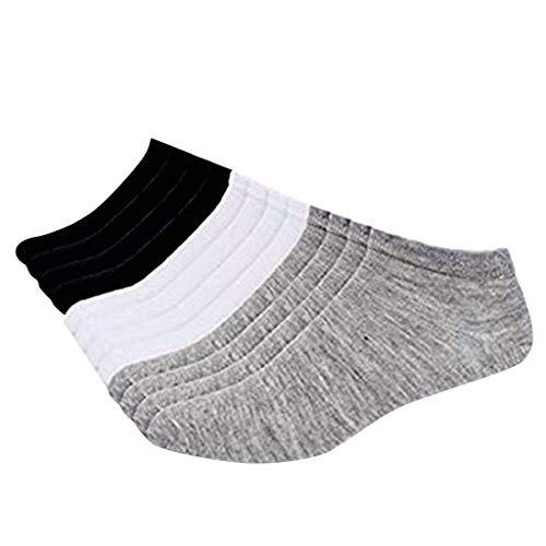 YSFWL 12 Paare Sneaker Socken Herren Damen Kurze Sportsocken Normallack Baumwollschlauch BrautstrüMpfe Erwachsenen Sockenanziehhilfe Sport Premium Business Tennissocken Naht Tragekomfort