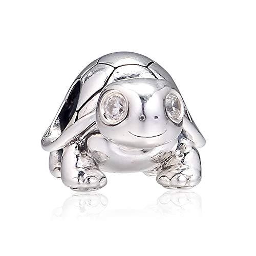 PANDOCCI 2019 Sommer helläugige Schildkröte Perle 925 Silber DIY passt für Original Pandora Armbänder Charme Modeschmuck