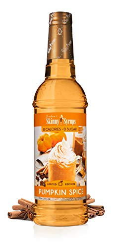 Jordan's Skinny Mixes Syrups | Sugar Free Pumpkin Spice Coffee Syrup | Healthy Flavors with 0 Calories, 0 Sugar, 0 Carbs | 750ml/25.4oz Bottle