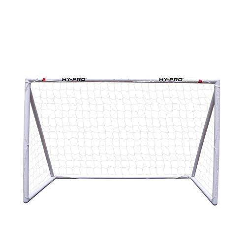Hy-Pro - Porta da Calcio in uPVC, 2,4 x 1,8 m, Colore: Bianco