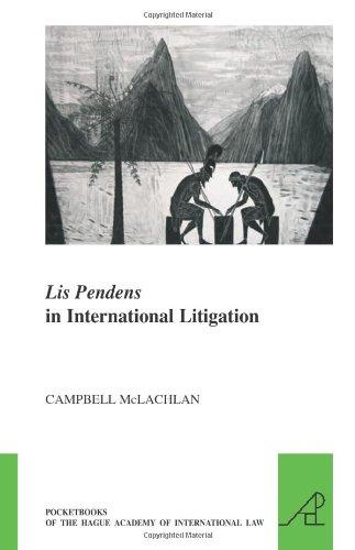 Lis Pendens in International Litigation (The Pocket Books of the Hague Academy of International Law//les Livres De Poche De L'academie De Droit International De La Haye, Band 5)