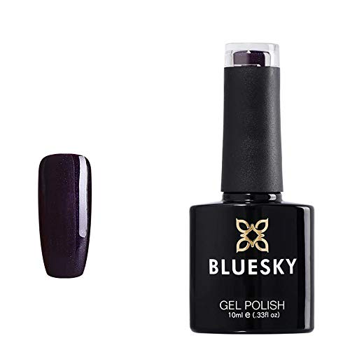 Bluesky BLUESKY Gel Polish, Rock Royalty, 80524, 10ml, Gel auflösbarer Nagellack, Lila, Schwarz, Dunkel, Glitzer, Schimmer (Aushärtung unter UV-/LED Lampe erforderlich) er Pack(x)