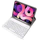 Chnrong Funda para tablet con teclado desmontable, funda plegable con teclado retroiluminado de 7 colores y soporte para lápices, funda protectora para iPad 2020/iPad 2019/iPad Air 3/iPad Pro 10.5