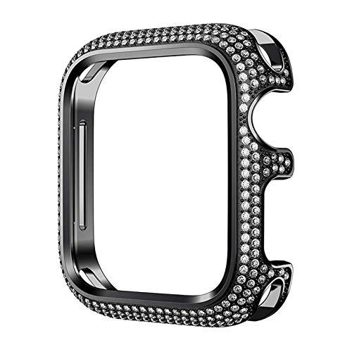 SGGFA Cubierta Protectora de Diamantes de Diamante de Lujo para iWatch Series 6 5 4 40mm 44mm Funda de joyería para Mujer para iWatch 6 SE 3 42mm 38mm
