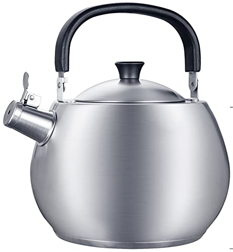 JLLXXG 4.5L Stovetop Kettles 304 Stainless Steel Teapot Traditional Kettle Electric Gas Hobs Stovetop Kettles Induction Cooker Whistle Small Kettle Coffee Water Tea Pot Gas Kettle Tea Kettle Teapot