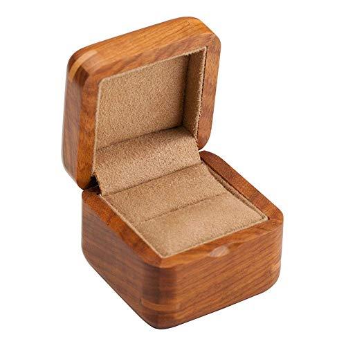 Cajas de joyería, Caja de Anillos, Rosewood Rosewood Pure Solid Wood Anillo de ANUJO Caja DE Anillo DE Diamante Caja DE Pendientes Caja de Almacenamiento