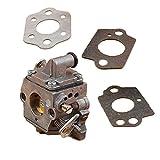 Piezas para cortacésped 2020 Nuevo Kit de carburador Duradero para STIHL MS170 MS180 MS 170 180 017 018 Motosierra C1Q-S57B 1130 120 0603/1130120060306060 (Color : China)