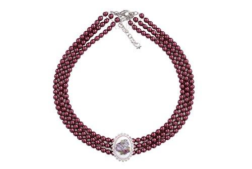 Moschen-Bayern Trachtenschmuck Dirndlschmuck Damen Perlenkropfband Tracht Kropfkette Kropfband Dirndlkette Rot