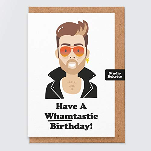 Have a Whamtastic Birthday Card for Wham and George Michael 80s Music Fans