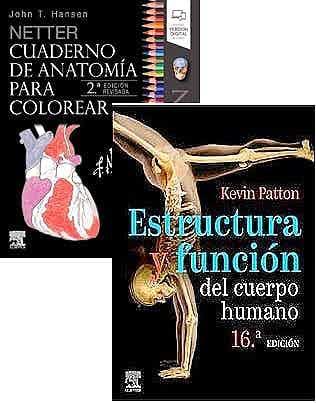 Lote NETTER Cuaderno de Anatomía para Colorear + Estructura y Función del Cuerpo Humano