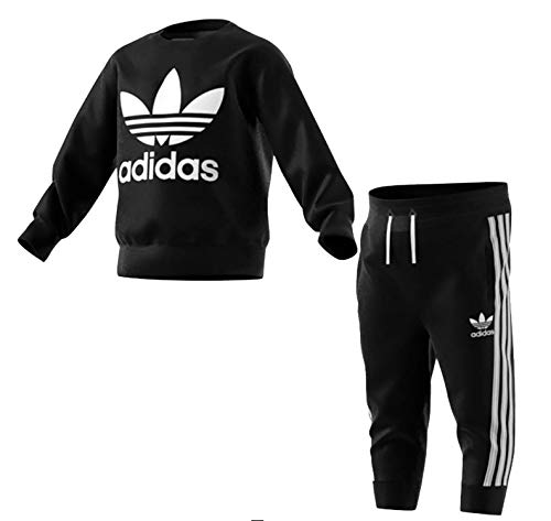 adidas Crew Set, Suits Unisex Bambini, Black/White, 2-3A
