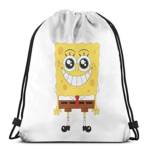 Sp-onge Bob Mochila de moda con cordón bolsa de mochila al aire libre