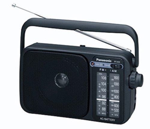 Panasonic 2400DEB-K Radio portátil Am/FM con Funcionamiento AC o DC. Negro [Versión Importada]