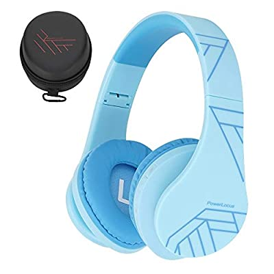Kids Headphones, PowerLocus P2 Bluetooth Headphones for Kids with Volume Limit 85DB, Kids Wireless Headphones Over Ear with Microphone, Foldable, Carry Case, Micro SD/TF for iPhone/iPad/Laptop/PC/TV from Powerlocus