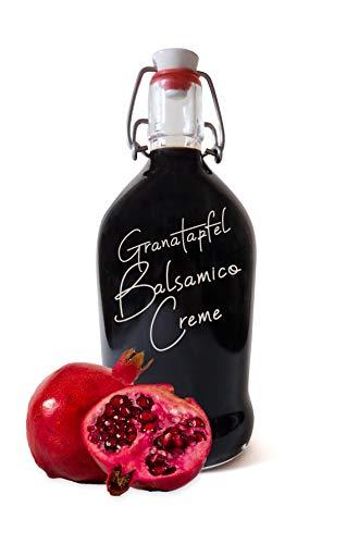 Balsamico Creme Granatapfel ● Fruchtessig Balsam Creme für Fleisch und Salat ● dickflüssig (Granatapfel, 500)