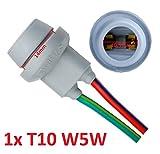 L & P B5851x T10W5W goma Capacidad goma Casquillo portalámparas Socket de cristal para W2,1x 9,5d. Bombillas incandescentes Bombillas Lámpara