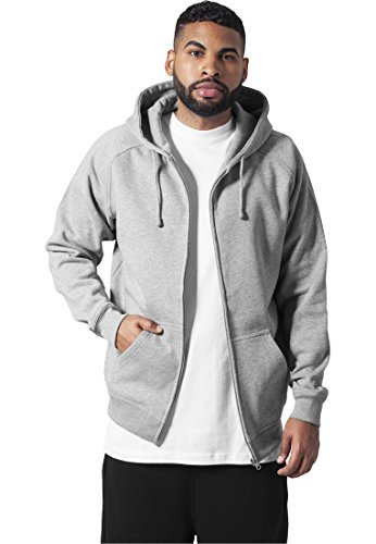 Urban Classics Hommes Zip Hoodie TB014C, Taille:3xl;color:grey
