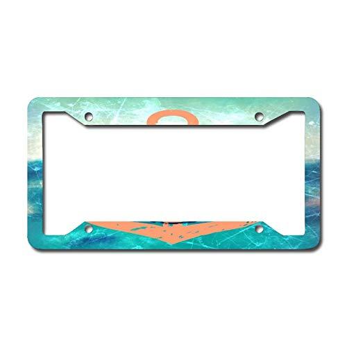 Orange Brown Nautical Anchor License Plate Frame Aluminum Metal License Plate Frame Car Tag Novelty Home Decoration for Women Girls Men Boys 6.3 X 12.2 Inch