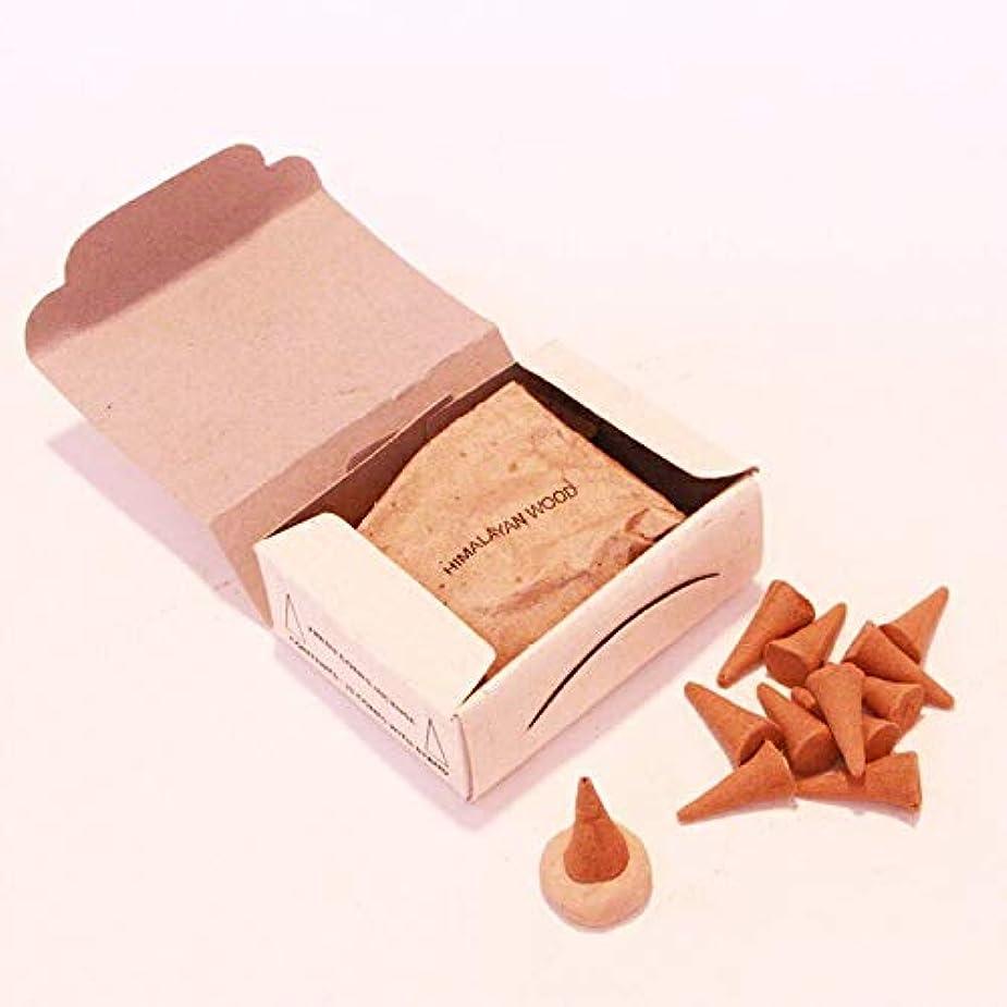 人質最小化するディスコ高級インド雑貨カオス ナチュラル インセンス コーンタイプ 25個入 お香立てつき (ヒマラヤンウッド)