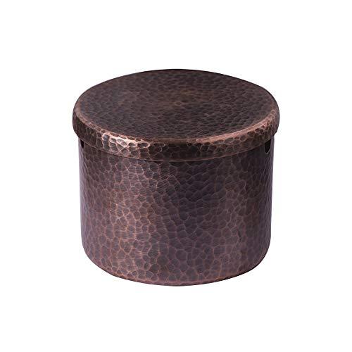 Asbak puur koper asbak, geschikt voor antieke huis/kantoor decoratie/decoratie/asbak moderne thee kamer vintage asbak Messing-8,5 x 7 cm