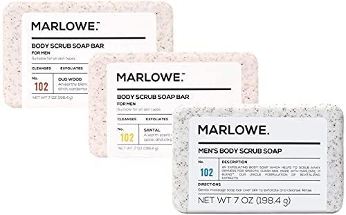 MARLOWE. No. 102 Men's Body Scrub Soap 7oz (Variety Pack)   Best...