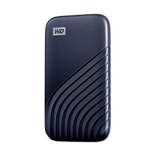ウエスタンデジタル WD ポータブルSSD 500GB ブルー 【PS5 メーカー動作確認済】 USB3.2 Gen2 My Passport SSD 最大読取り1050 MB/秒 外付けSSD /5年保証 WDBAGF5000ABL-WESN