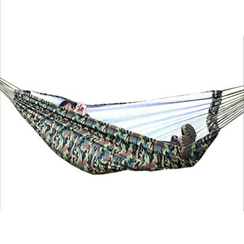 Hamacs Double de Loisirs en Plein air Camping en Toile Pleine Jardin et Patio (Color : Camouflage, Size : 200 * 145cm)