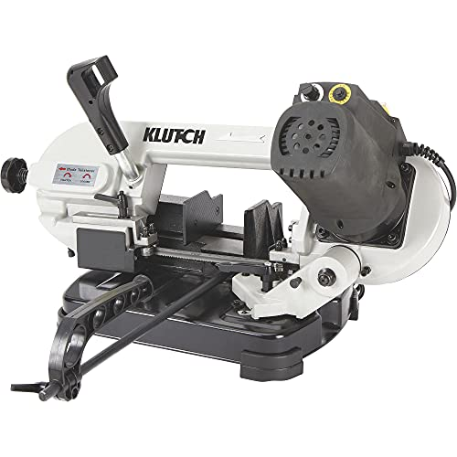 Klutch Benchtop Metal Cutting Band Saw - 5in. x 4 7/8in, 400 Watts, 110–120