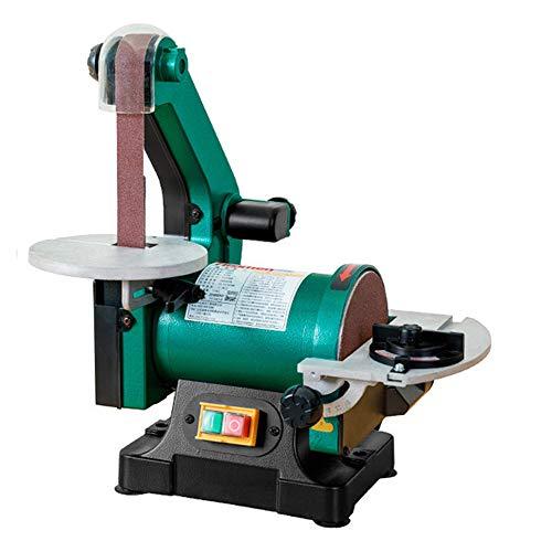Huanyu Bandschleifmaschine 2850 RPM Bandschleifer 0-45 ° Holzbearbeitungsschleifer 13,5 M/S Spitzer Anfasen Poliermaschine Sandmühle mit Bandgröße von 25x762 MM