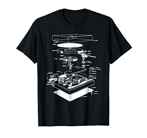 Turn table shirt - dj shirt - turn table schematic