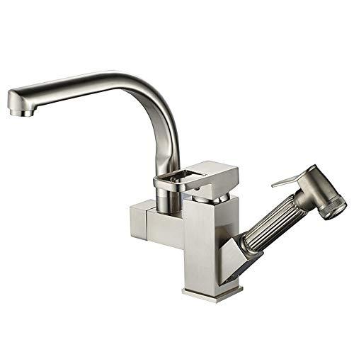 Yhjkvl Küchenarmatur Kitchen Sink Mischbatterie Massivem Messing Mit Spritzpistole Waschbecken Wasserhahn Spültischarmatur