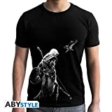 ABYstyle Abysse Corp_ABYTEX459 Assassin'S Creed-T-Shirt-Bayek-Man Ss Black-New Fit, Unisex Niño, Pequeño, Mediano, Grande, XL
