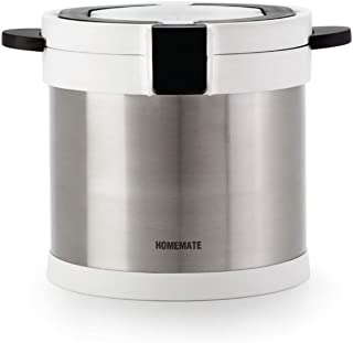 Homemate Vacuum Insulated Non-Electric Thermal Cooker, Double Wall Stainless Steel