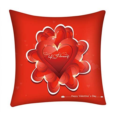 Wancooy Funda de almohada romántica para el día de San Valentín con impresión de sofá, coche, decoración del hogar (I, 45 x 45 cm)