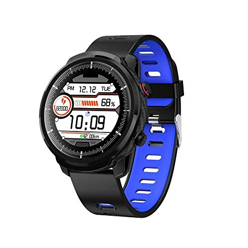 Gymqian Smart Watch, Écran Tactile Complet de 1,3 Pouces Ips, Ip67 Message Imperméable À L'Imperméabilisation Données de Sommeil Bracelet Multi-Sport, Pour Android Et Ios Exquis/B