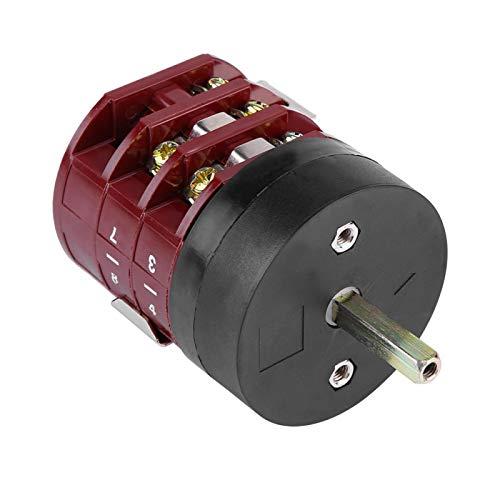 Interruptor de marcha atrás de avance de neumáticos, interruptor de pedal de mesa giratoria de 220 V/380 V interruptor de marcha atrás de avance de motor 32A