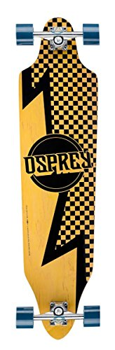 Osprey Longboard Bolt - Skateboard (a Cuadros, Tablas), Color marrón, Talla 40 Inch