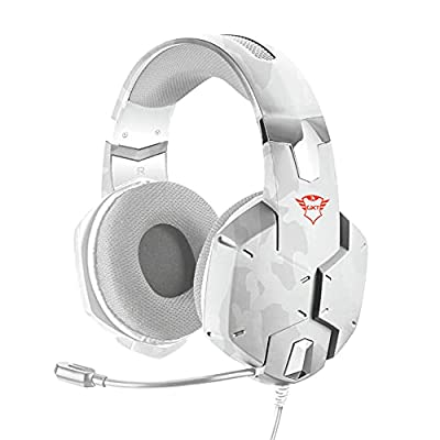 Trust Gaming Headset GXT 322W Carus with Microphone, Adjustable Headband and Flexible Mic, Wired, 1 m Nylon Braided Cable, for Xbox One, Xbox Series X, PS4, PS5, Nintendo Switch , Snow Camo by Trust