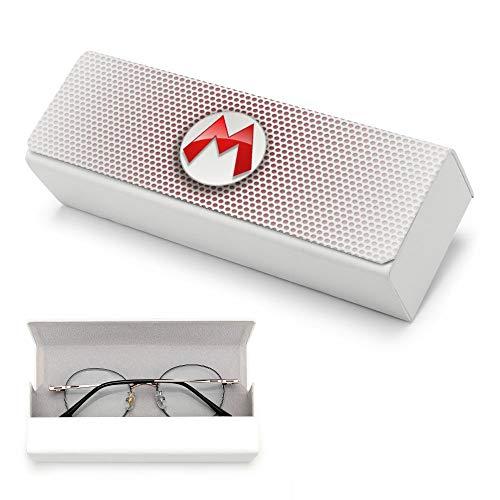 Pillow Socks Sup-er Ma-rie - Funda protectora para gafas con paño de limpieza, portátil, carcasa rígida para hombres y mujeres