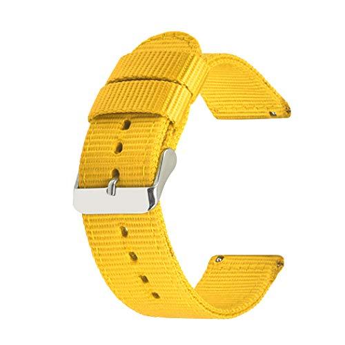 SIFEIRUI Quick Release-Uhrenarmband 2 Stück Gelb Premium-Nylon NATO-Uhrenarmband 24mm
