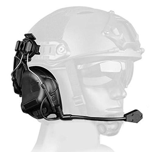 Taktischer Headset-Kopfhörer, helmartige Rauschunterdrückung Tactical Headset-Spielkopfhörer für Airsoft Military Radio OD