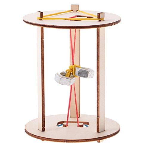 Sharplace DIY Roll Péndulo Roller Juguete Educativo Madera Modelo de Construcción Kits de Regalo