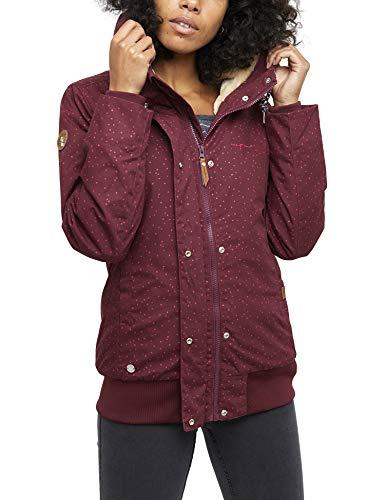 mazine Damen Jacke Chelsey, Farbe: Bordeaux Snow, Größe: M