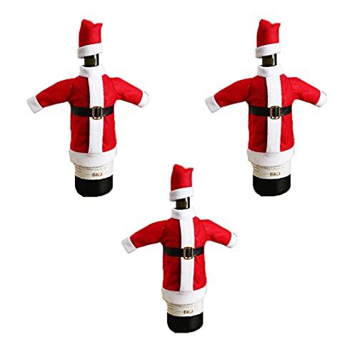 Bolsas de Navidad con cordón de Vino Tinto Tapa de Botella de Vino de Navidad Bolsas de Vino Tinto Bolsas de Yute para Botellas de Vino para Las Decoraciones de la Cena de la Fiesta en casa