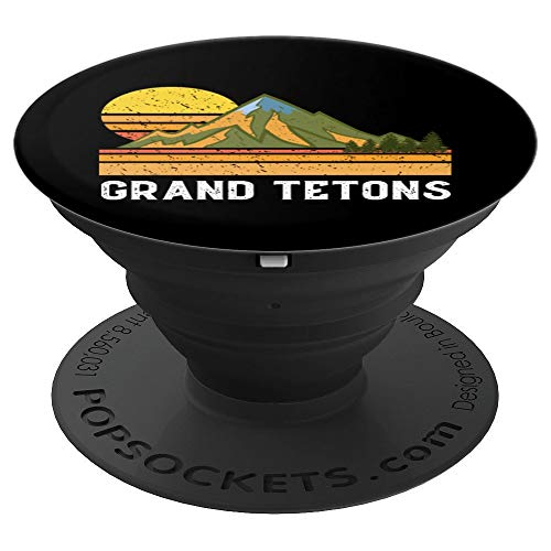 Mountain Vacation Gift- Mt. Climbing Hiking Grand Teton PopSockets Grip and Stand for Phones and Tablets
